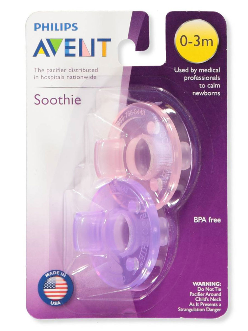 Pink and Purple Pacifiers