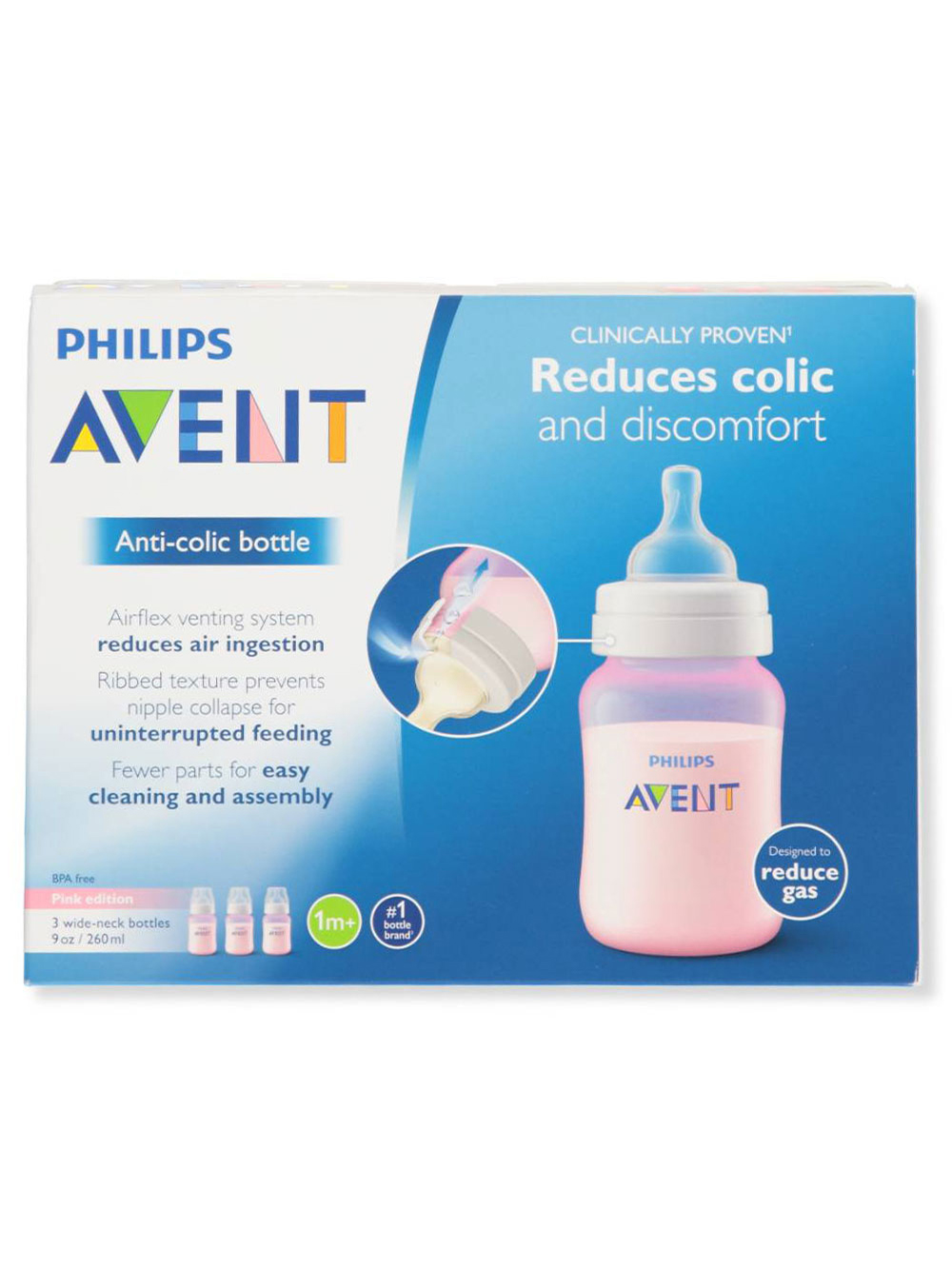 Bottles 3-Pack Wide-Neck Anti-Colic