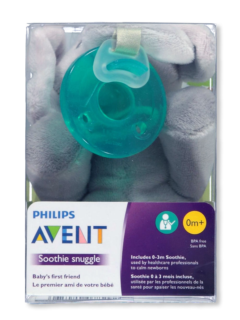 Soothie Snuggle Pacifier with Toy