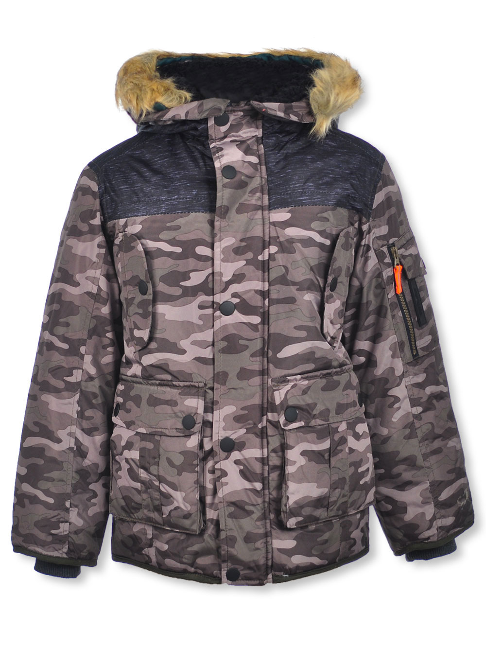 London Fog Toddler Boys Green Camo Hooded Coat Size 2T 4T