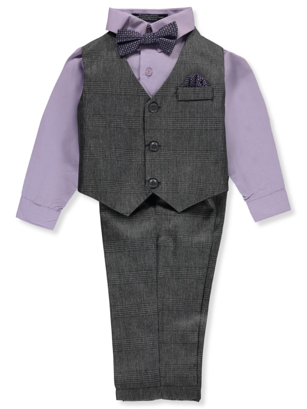 Formal Pant Sets Matching Clip-On Bowtie