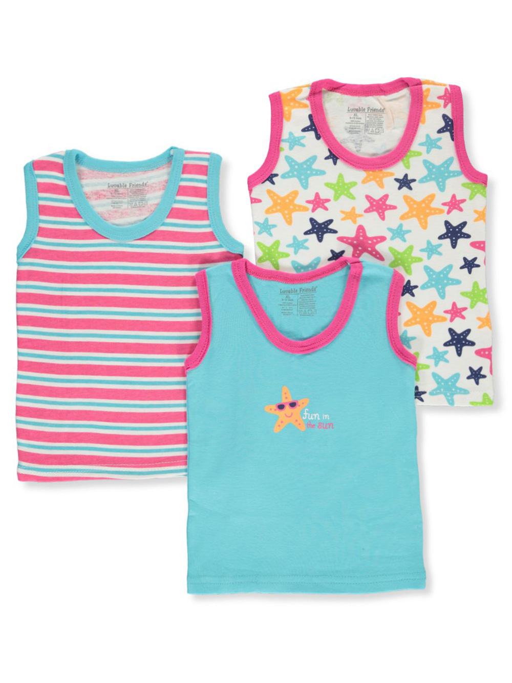 Girls' 3-Pack Tank Tops