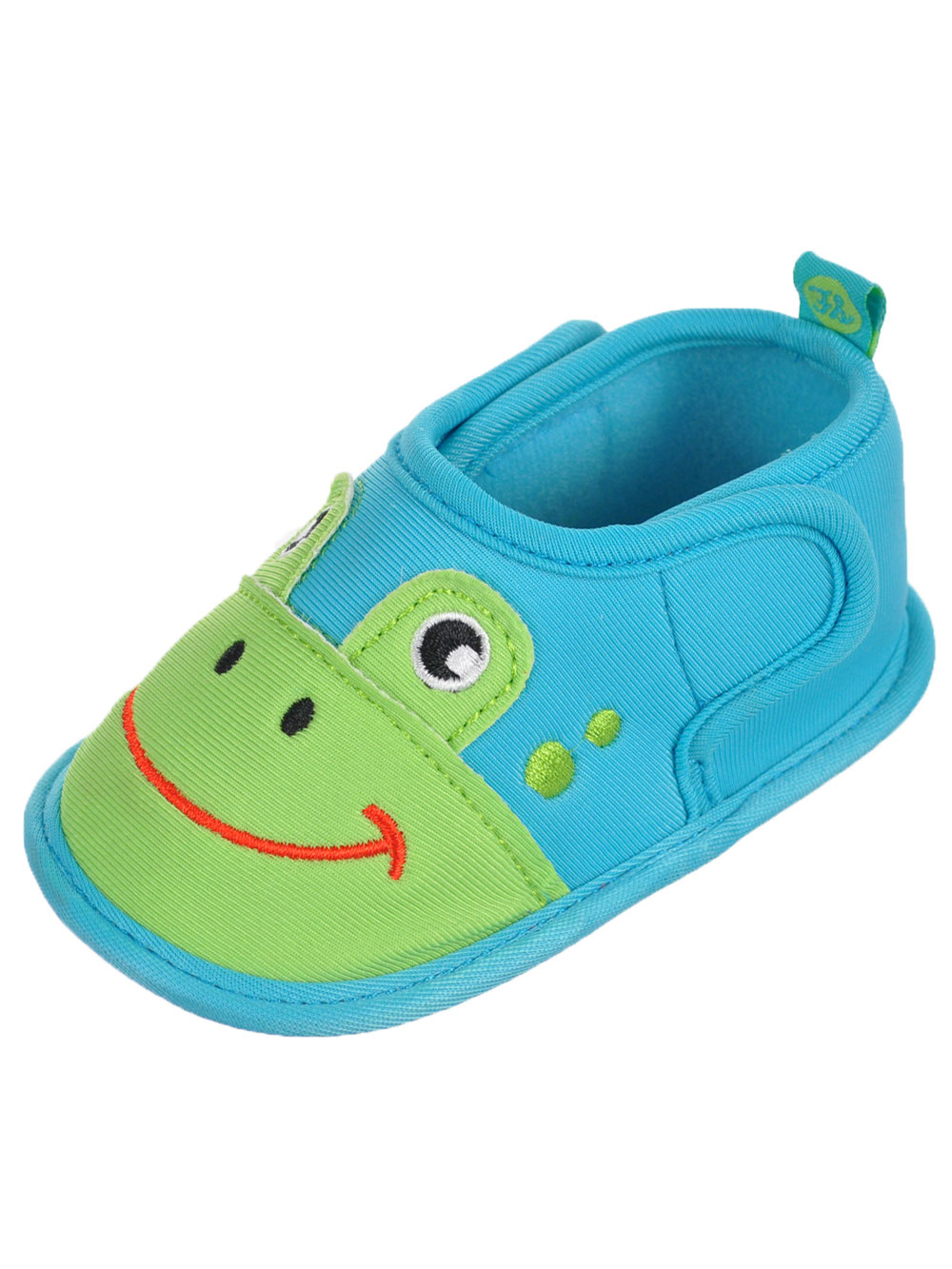 "First Steps by Stepping Stones Baby Boys' ""Froggy Smiles"" Water Shoe Booties - CookiesKids.com"