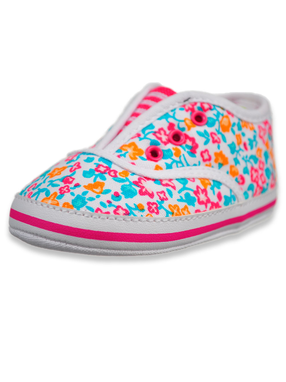 Baby Girls Pink Patent look Shoes with Minnie Mouse detail