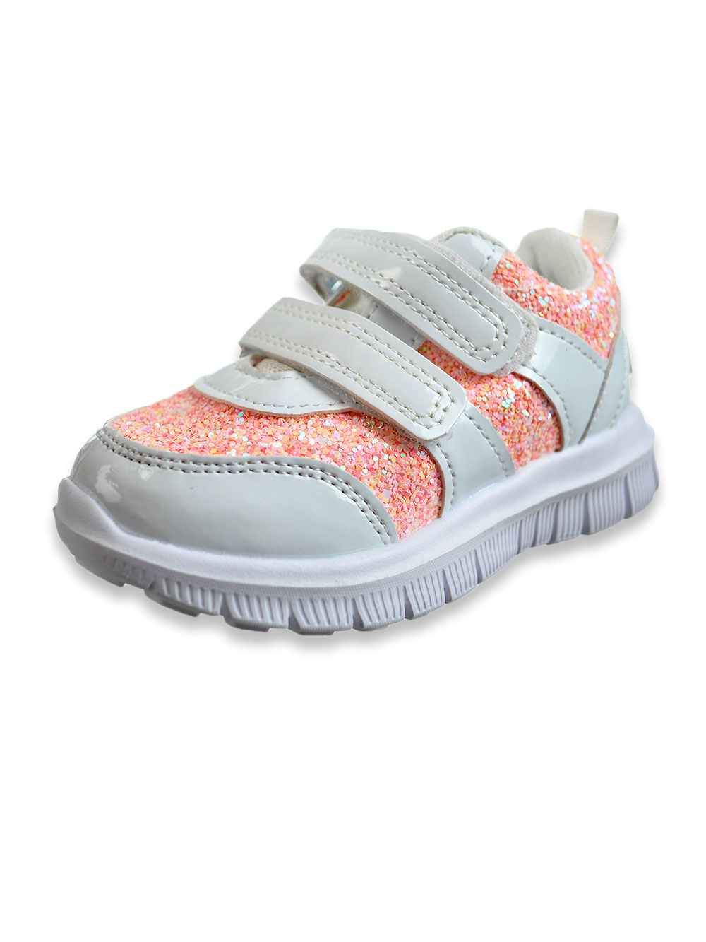 Girls White and Pink Sneakers