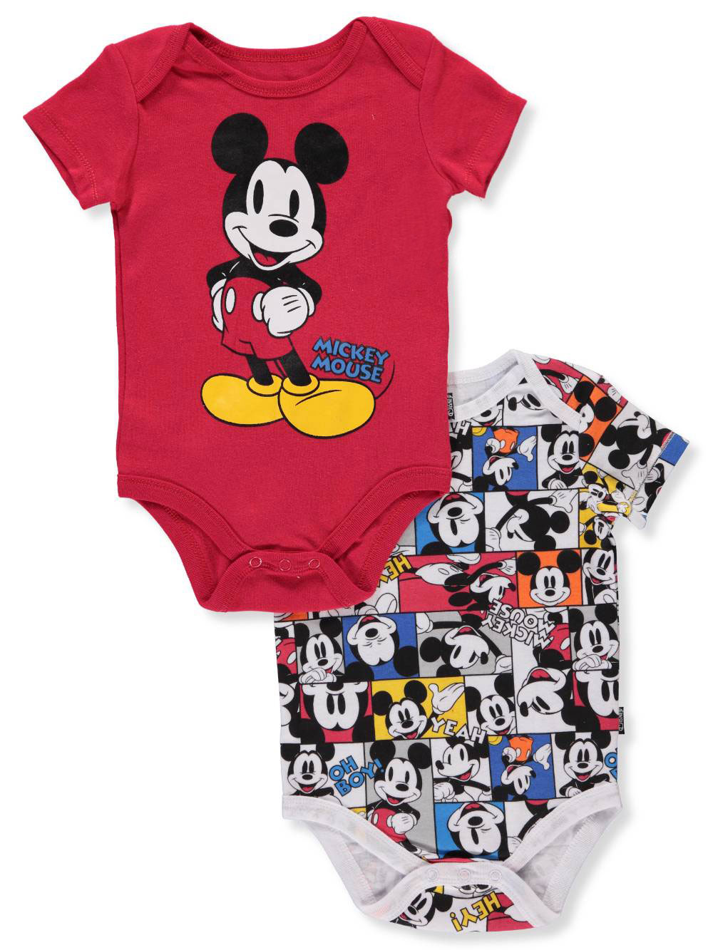 29baffa2ada Mickey Mouse Baby Boys' 2-Pack Bodysuits by Disney in Red/multi from  Cookie's Kids