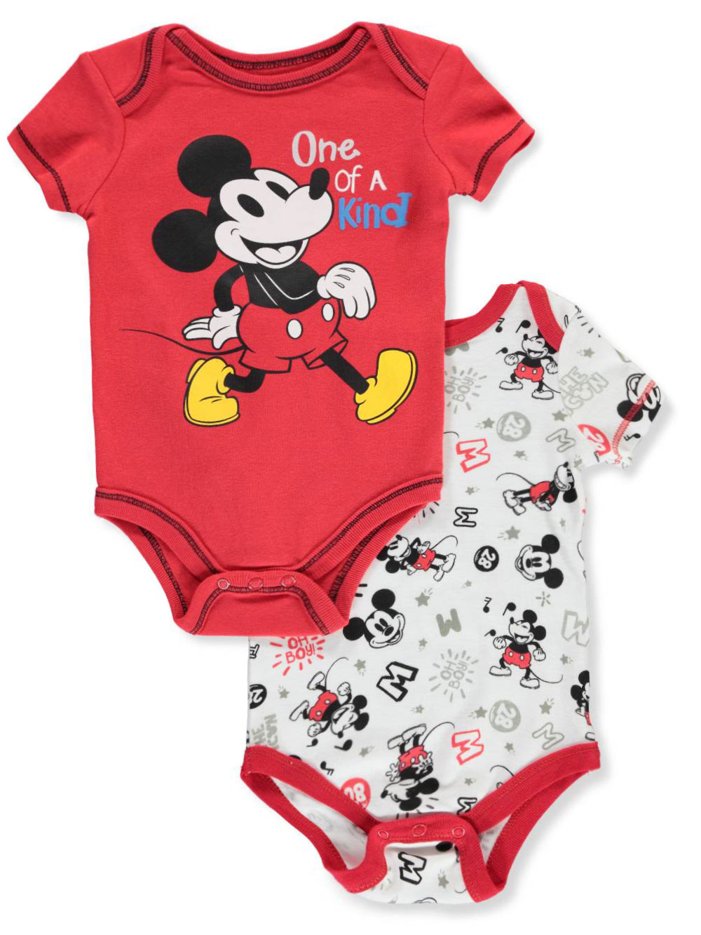 Mickey Mouse Baby Boys' 2-Pack Bodysuits