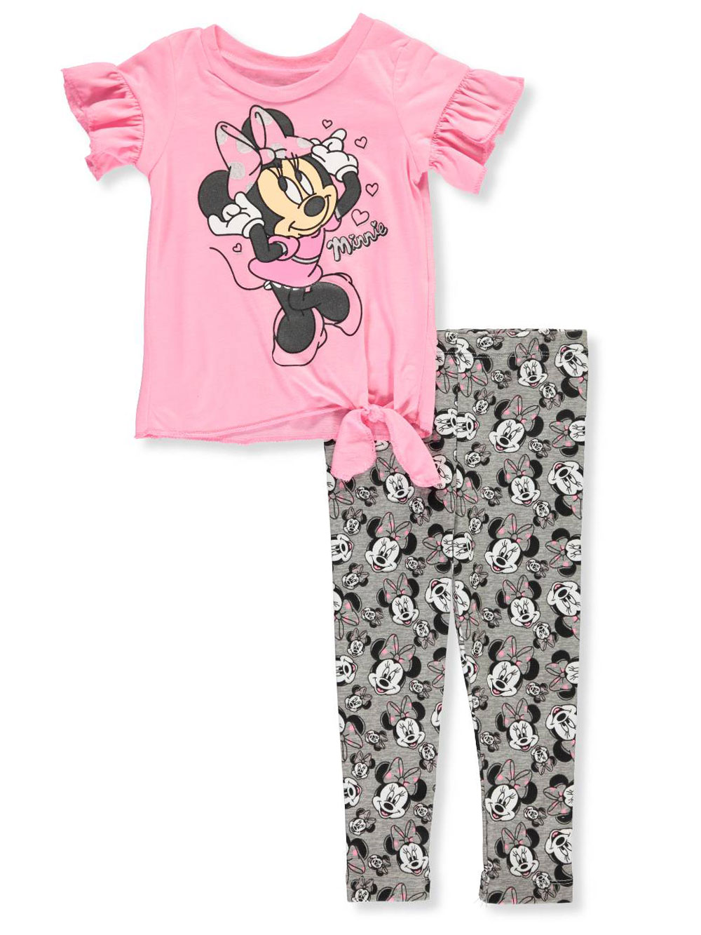 222f92cf4d68a Minnie Mouse 2-Piece Leggings Set Outfit by Disney in Pink