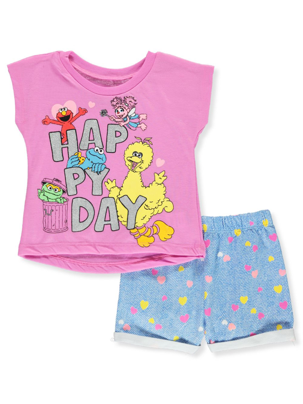 Happy Day 2-Piece Shorts Set Outfit