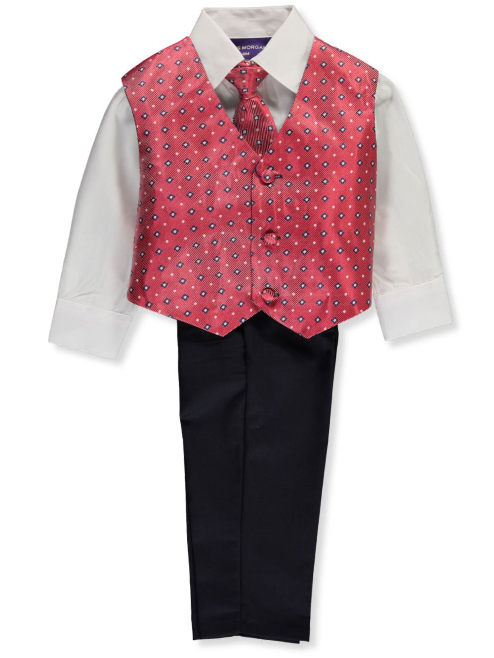 Baby Boys' 4-Piece Vest Set