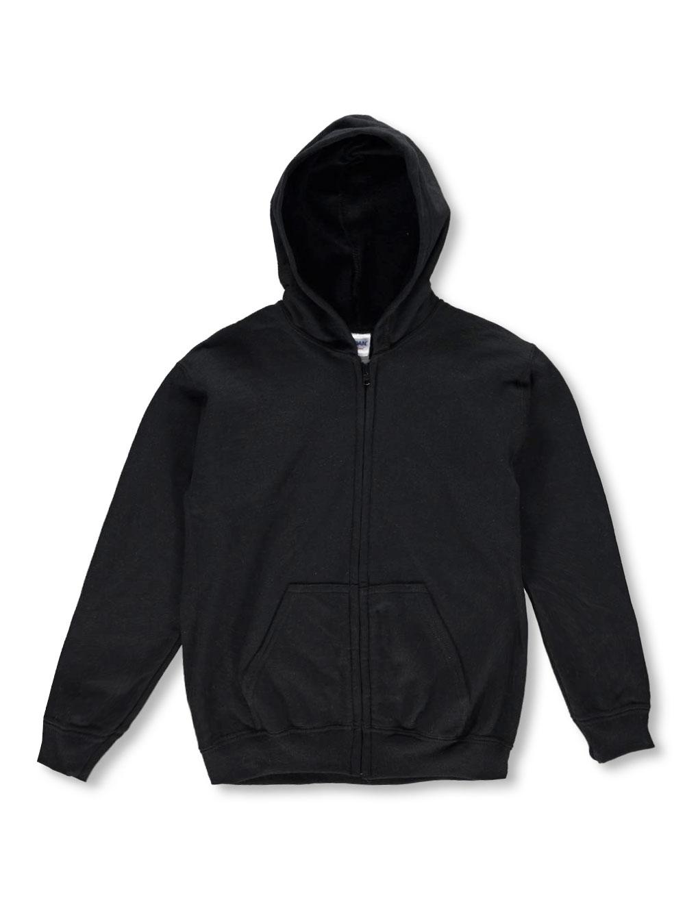 Image of Gildan Basic Fleece ZipUp Hoodie Adult Sizes S  XL  black xl