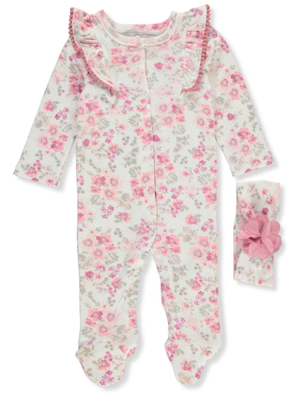 Coveralls Footed Coverall with Headband