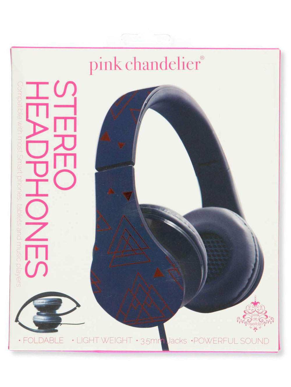 3a7e56fbc48 Pink Chandelier Stereo Headphones by BYTECH in blue, gray multi, green and  purple from Cookie's Kids