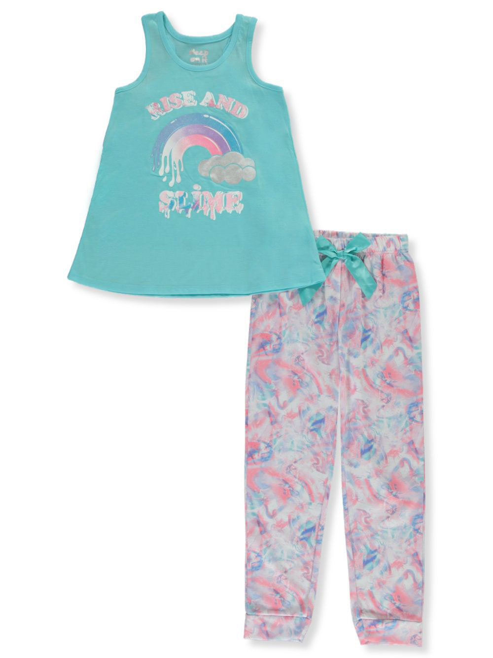 Girls Aqua Pajamas