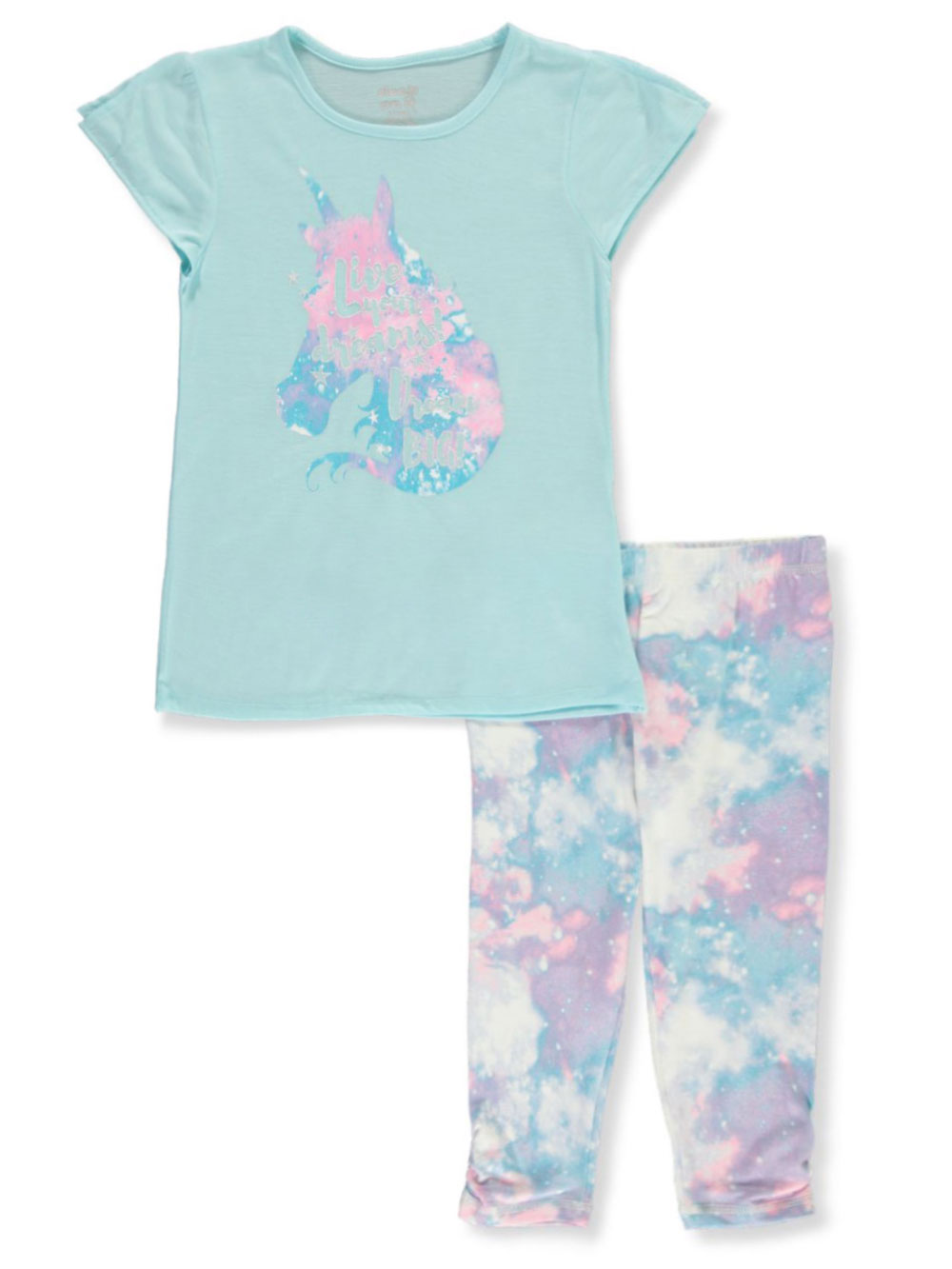 Aqua and Multicolor Pajamas