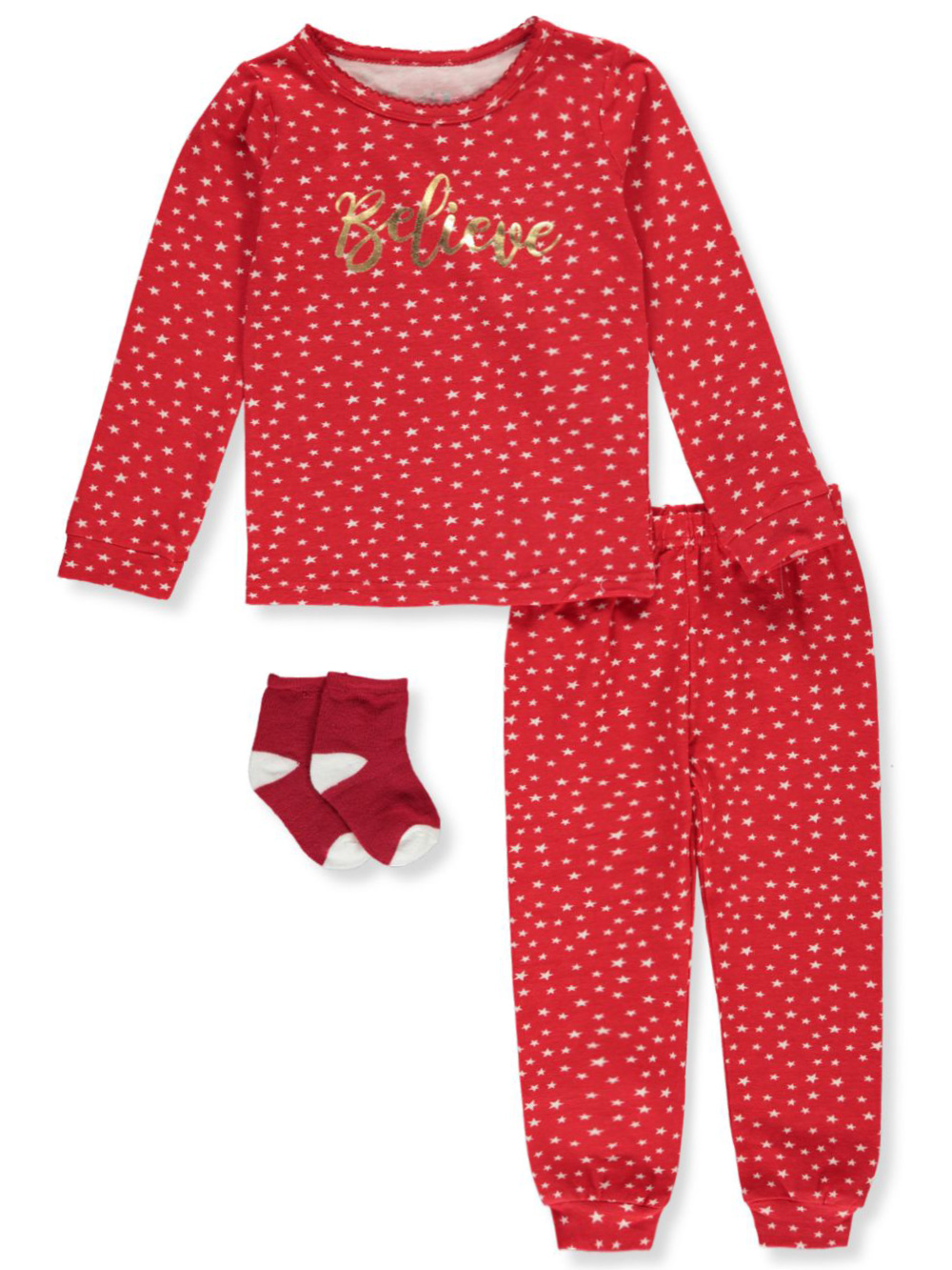 Girls' Believe 3-Piece Pajamas