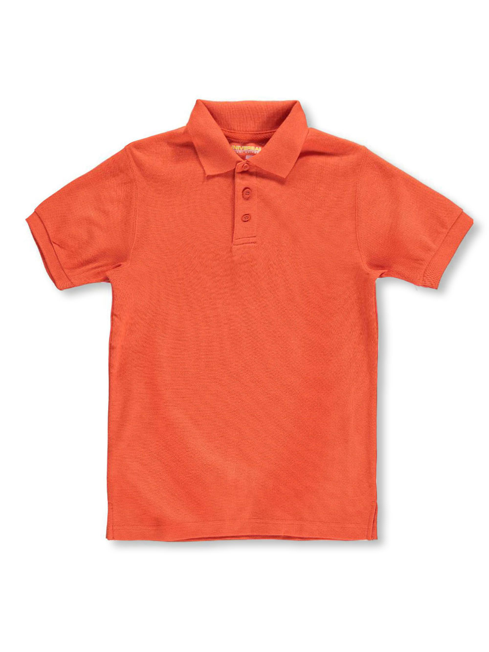 Boys Orange Knit Polos