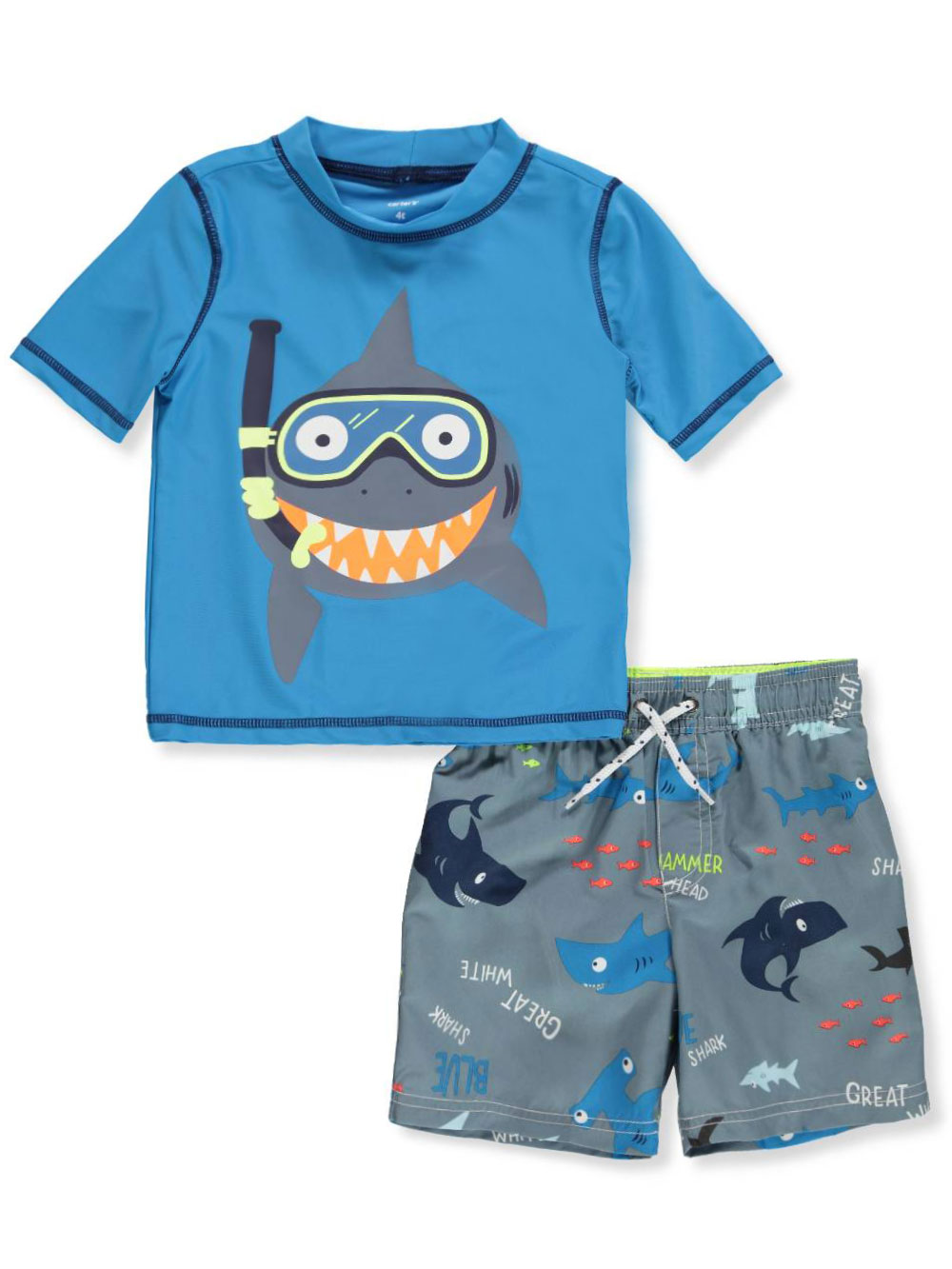317b71ad6b Boys' 2-Piece Swim Set by Carter's in Blue/gray from Cookie's Kids