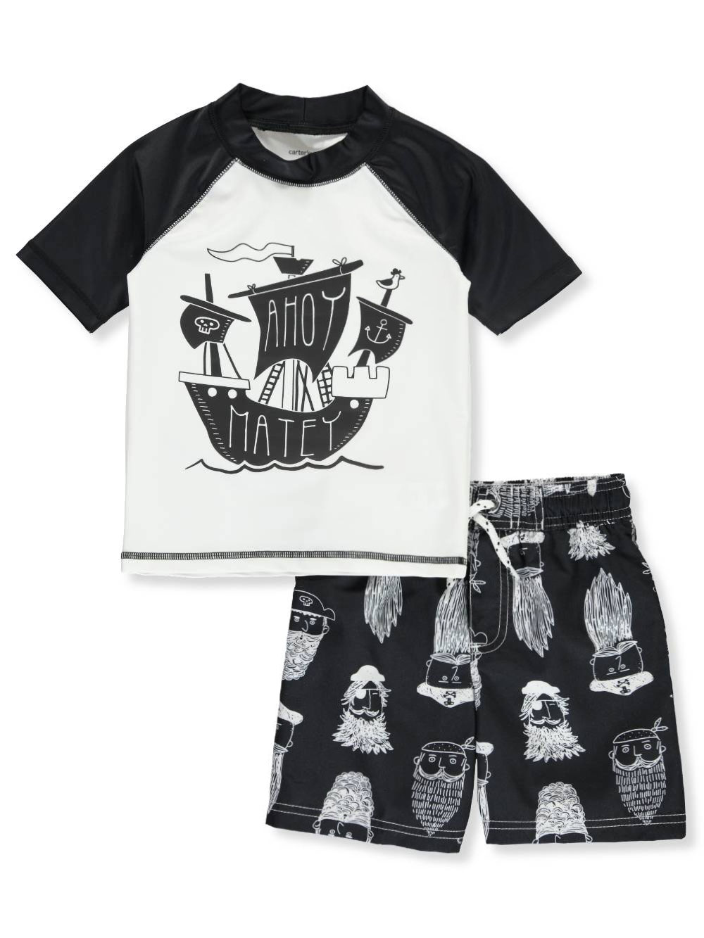 506ed056e3 Boys' 2-Piece Swim Set by Carter's in Black/white from Cookie's Kids