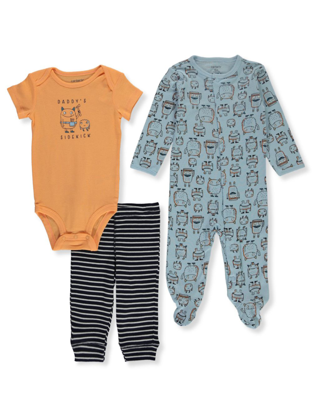 Coveralls 3-Piece Layette Set