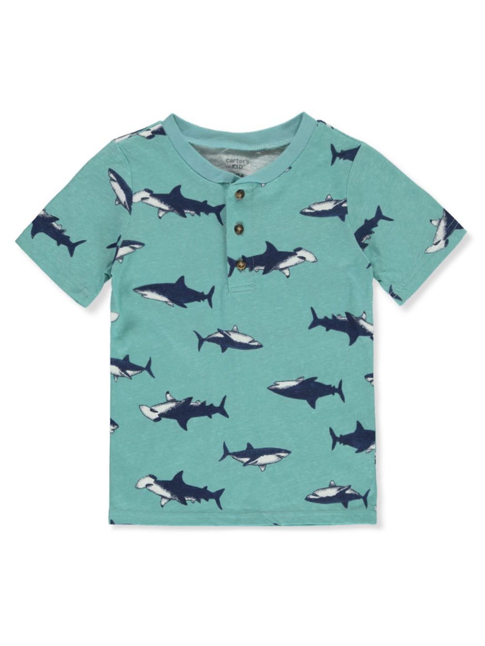 Boys' Sharks Henley Shirt