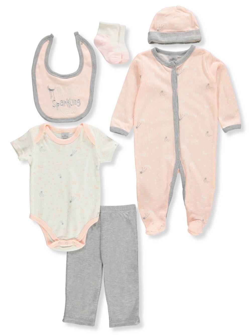 Little Beginnings Baby Girls/' 6-Piece Layette Set