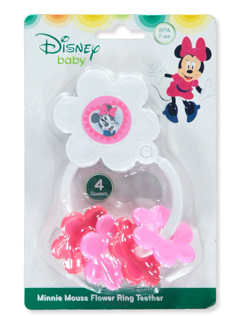 Minnie Mouse Flower Ring Teether