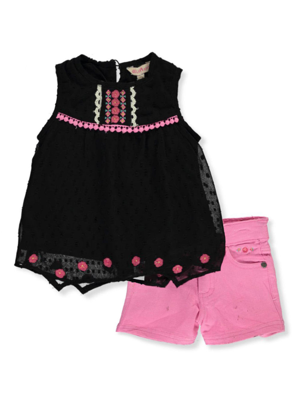 Girls Coral Short Sets