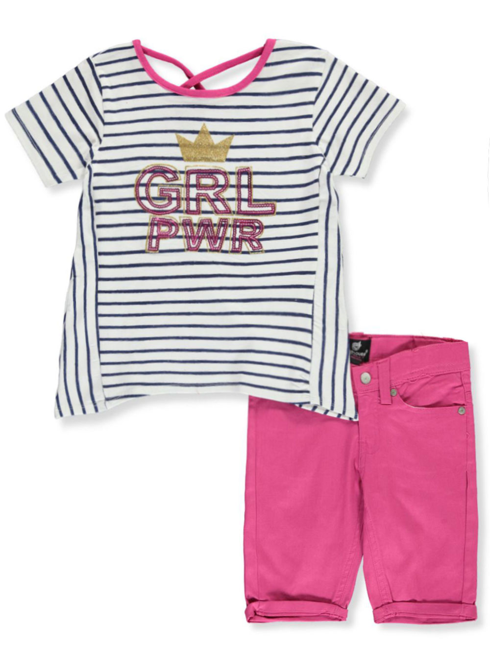 Girls Fuchsia Short Sets