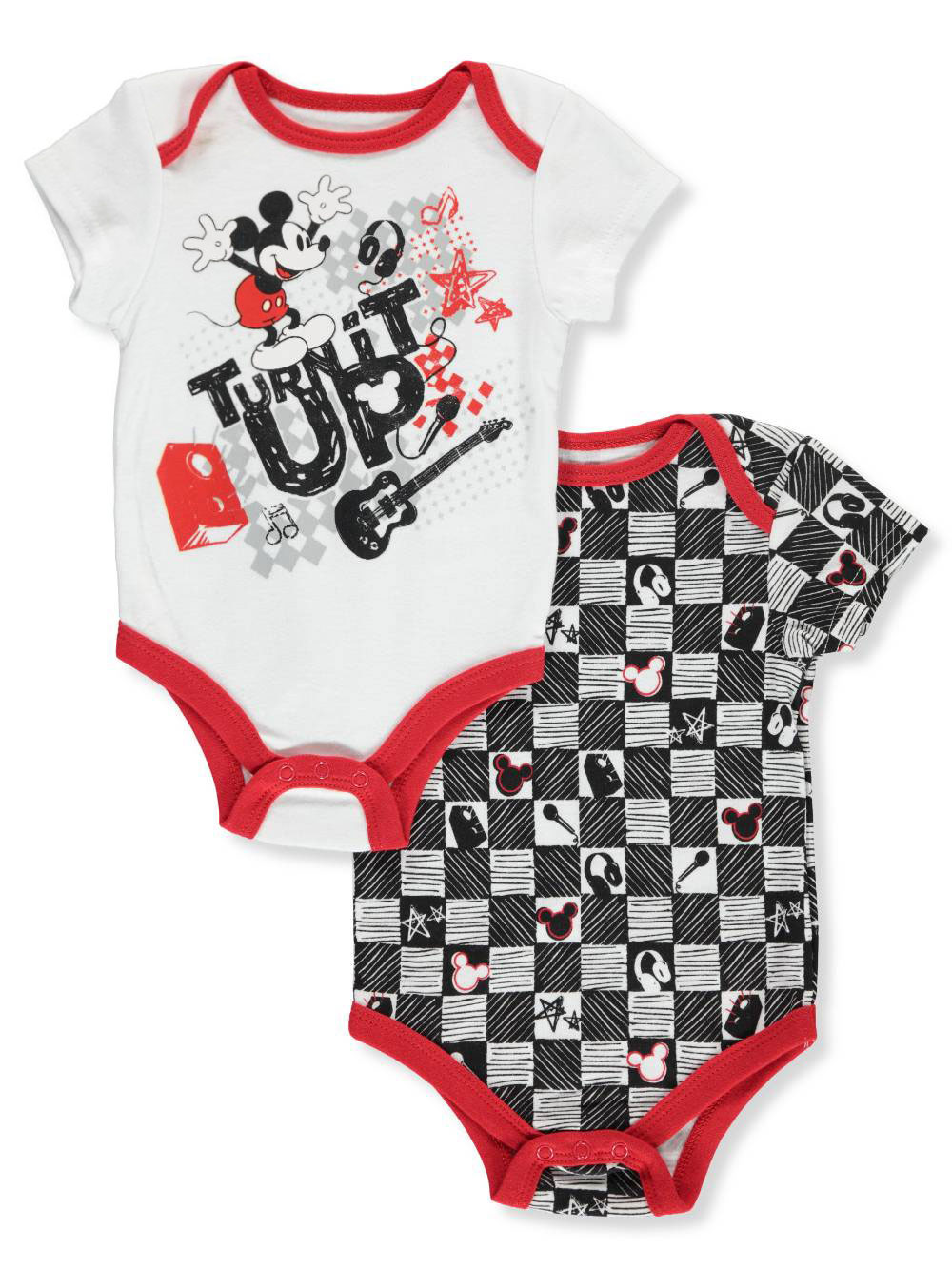 d5dfa2e5cf0 Mickey Mouse Baby Boys' 2-Pack Bodysuits by Disney in White/multi from  Cookie's Kids