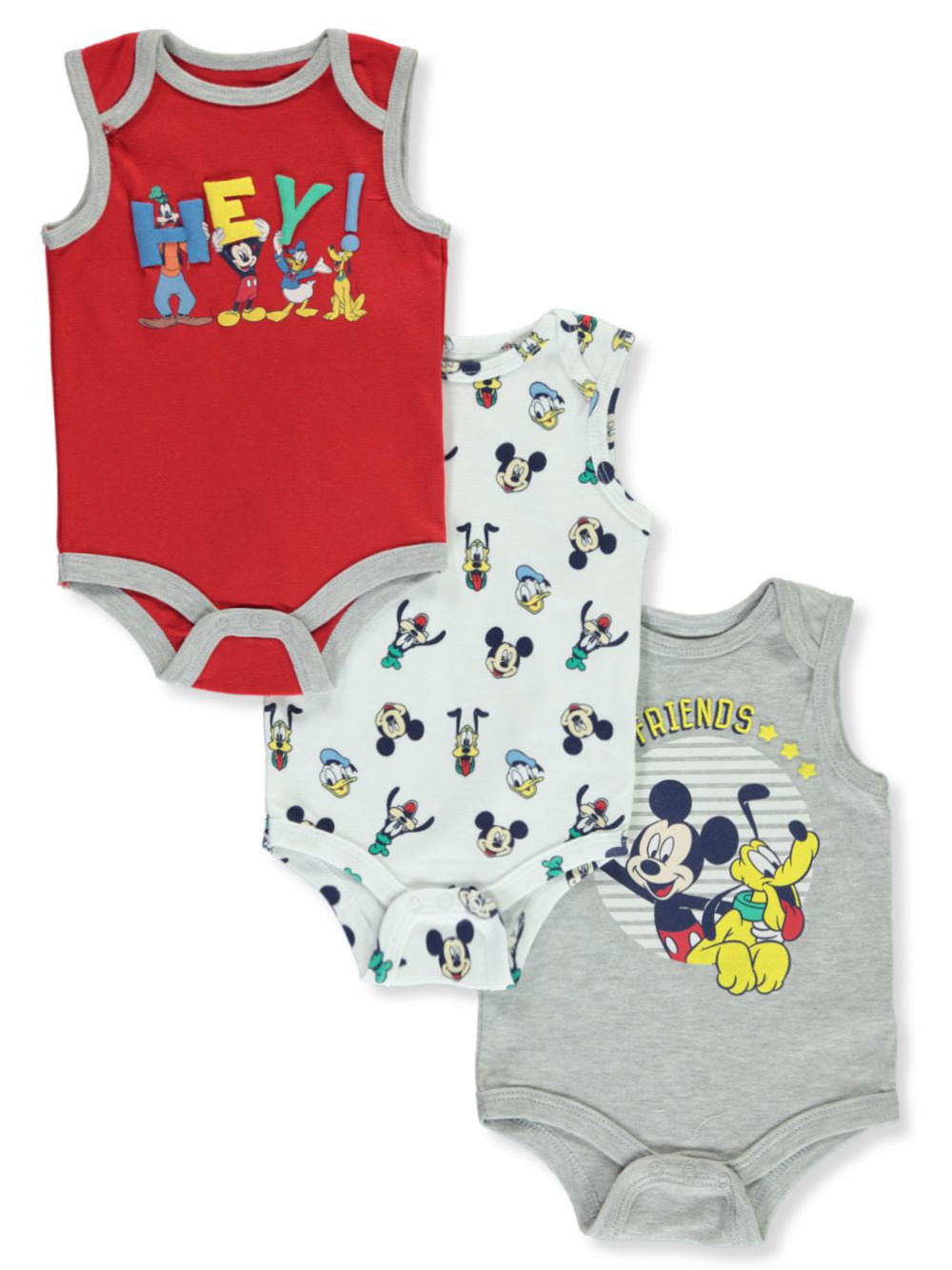 Bodysuits Mickey Mouse 3-Pack