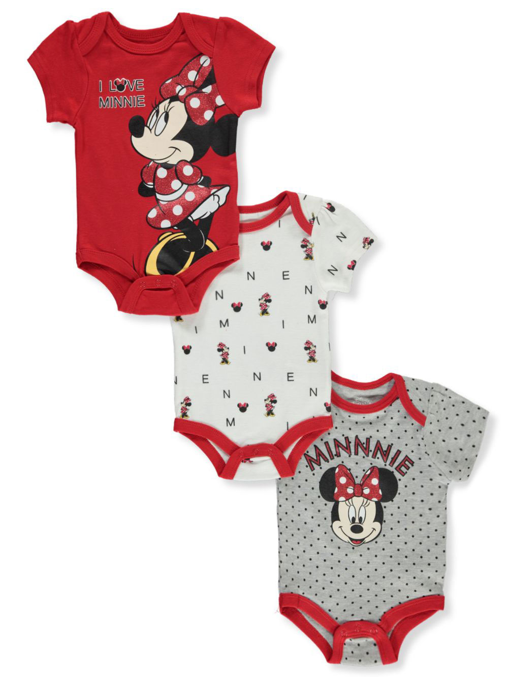 Girls Red and Gray Bodysuits