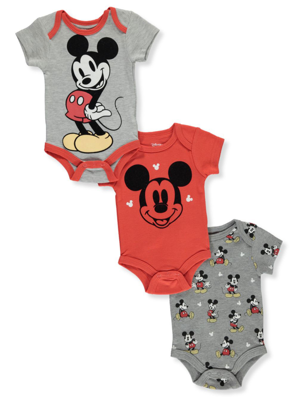 Boys Red and Gray Bodysuits