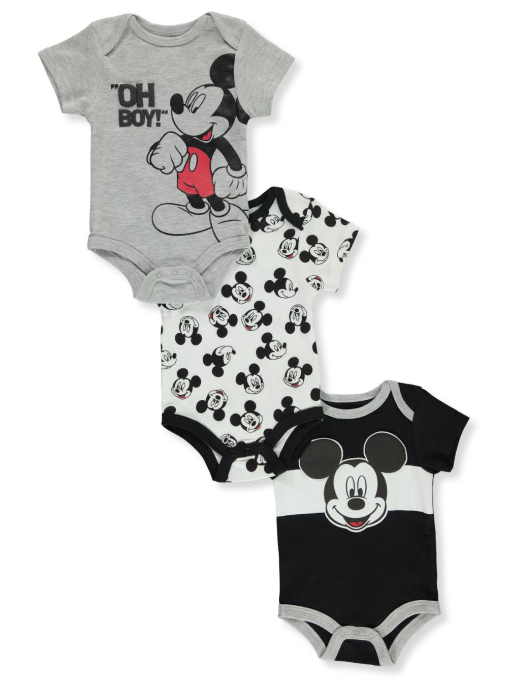Boys Black and White Bodysuits