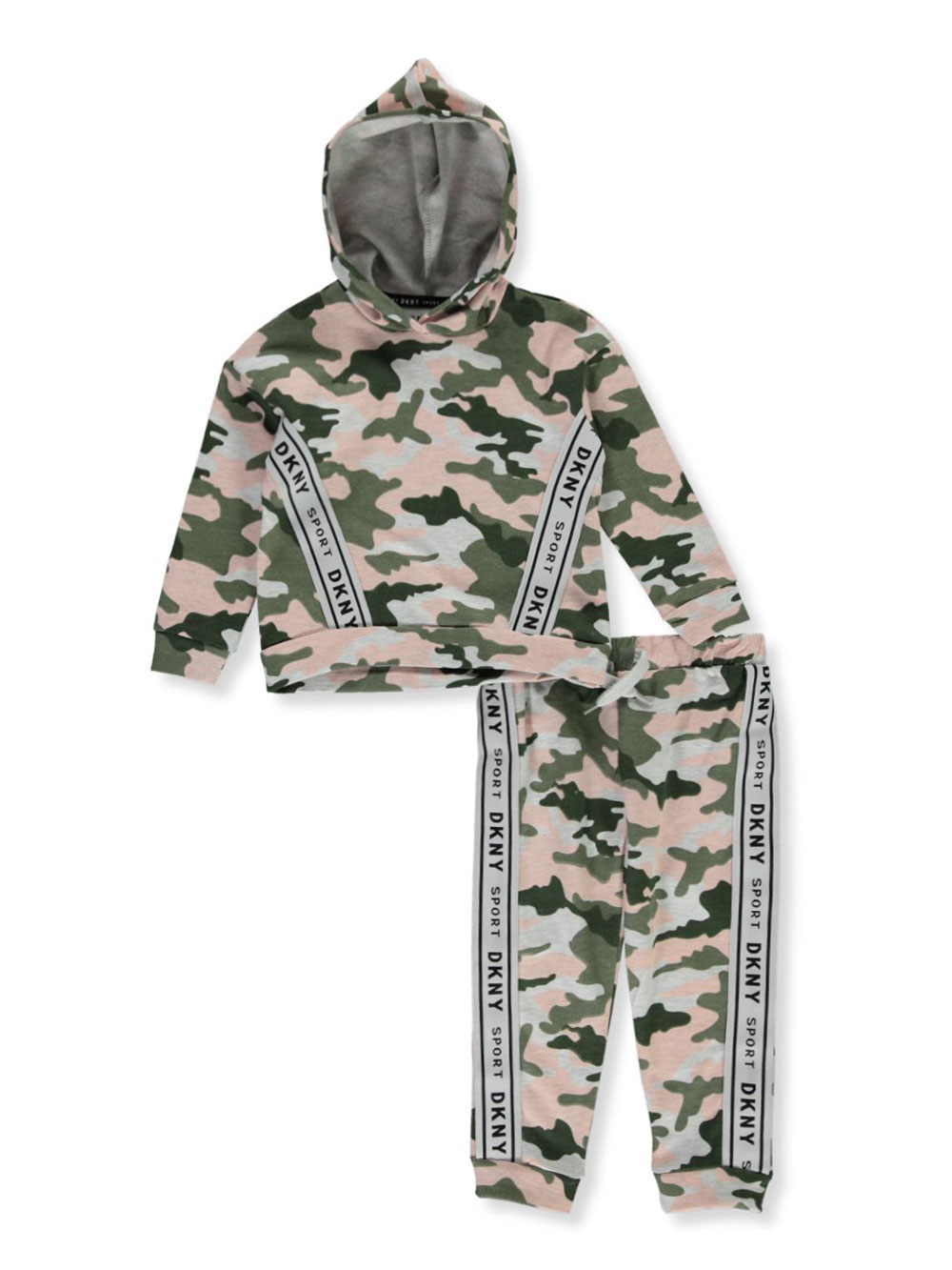 Girls' Camo Taped 2-Piece Sweatsuit Outfit