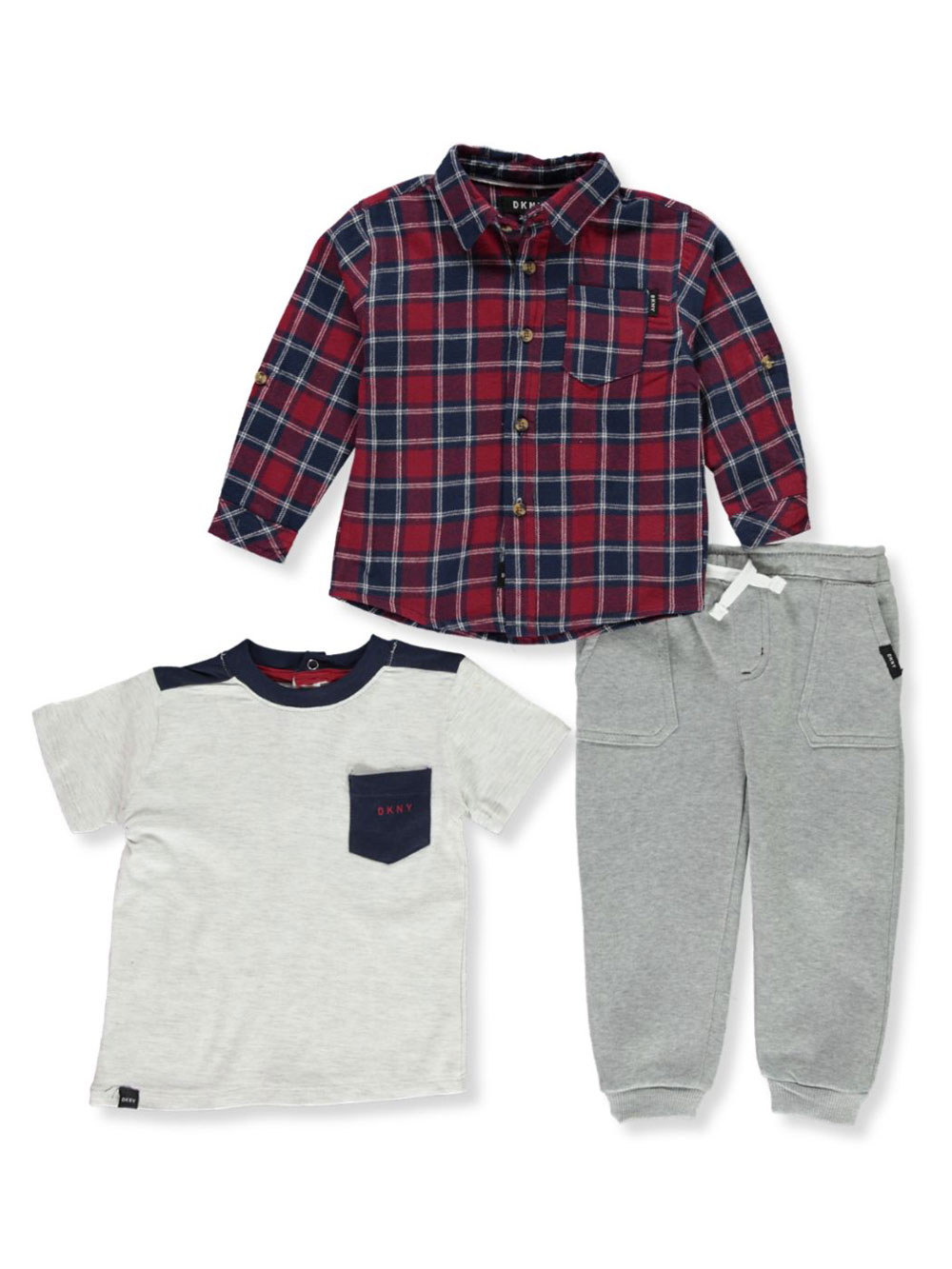 Boys Heather Gray Pant Sets