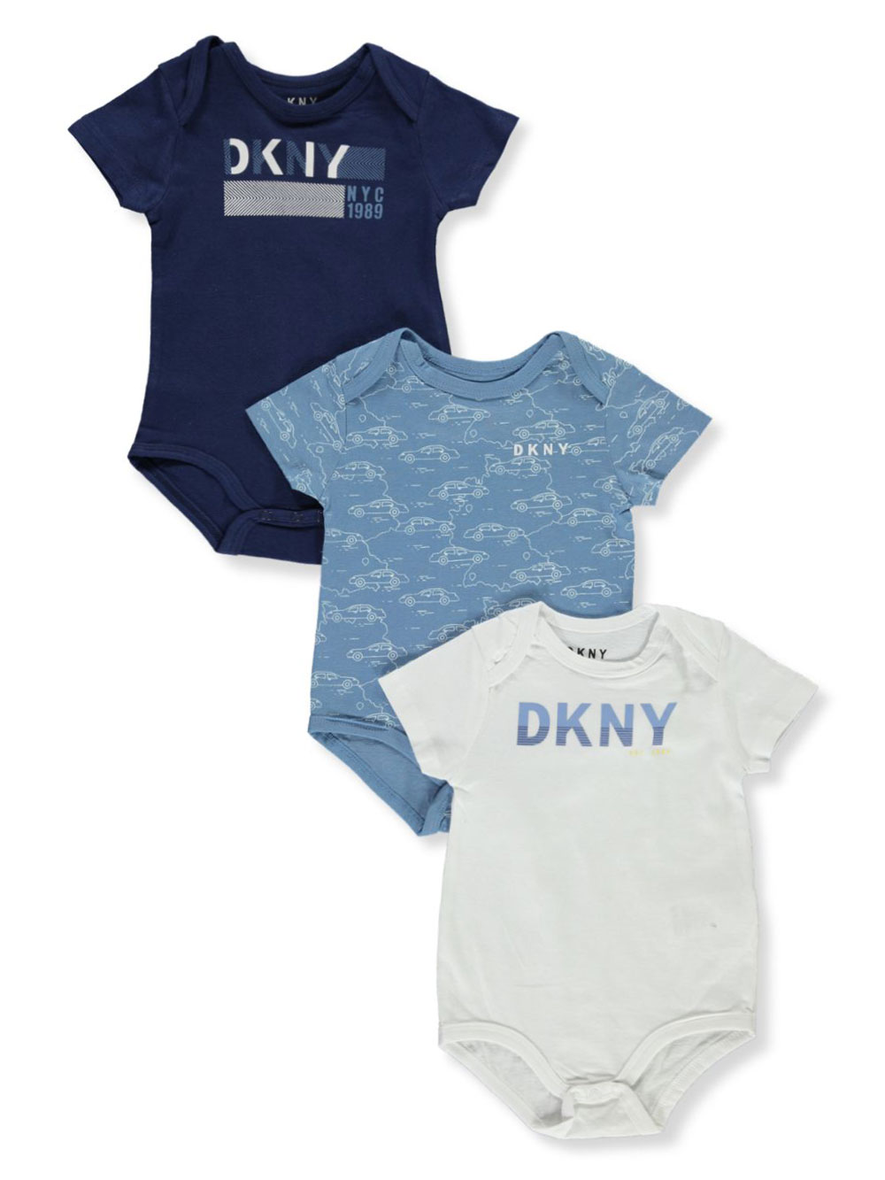 Boys Navy and Multicolor Bodysuits