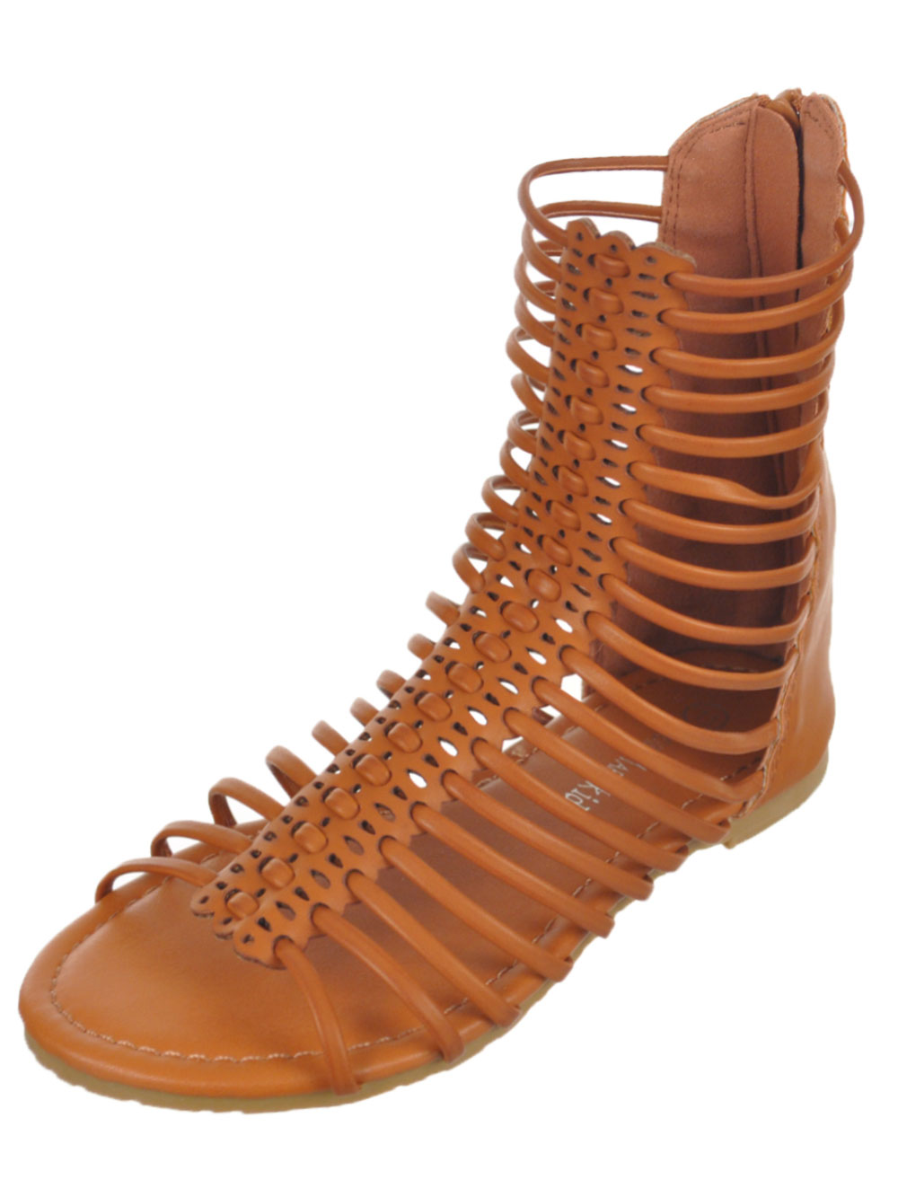 "4f7bcaa100c Eddie Marc Girls  ""Punch Strap"" Gladiator Sandals (Youth Sizes 13 – 4)"