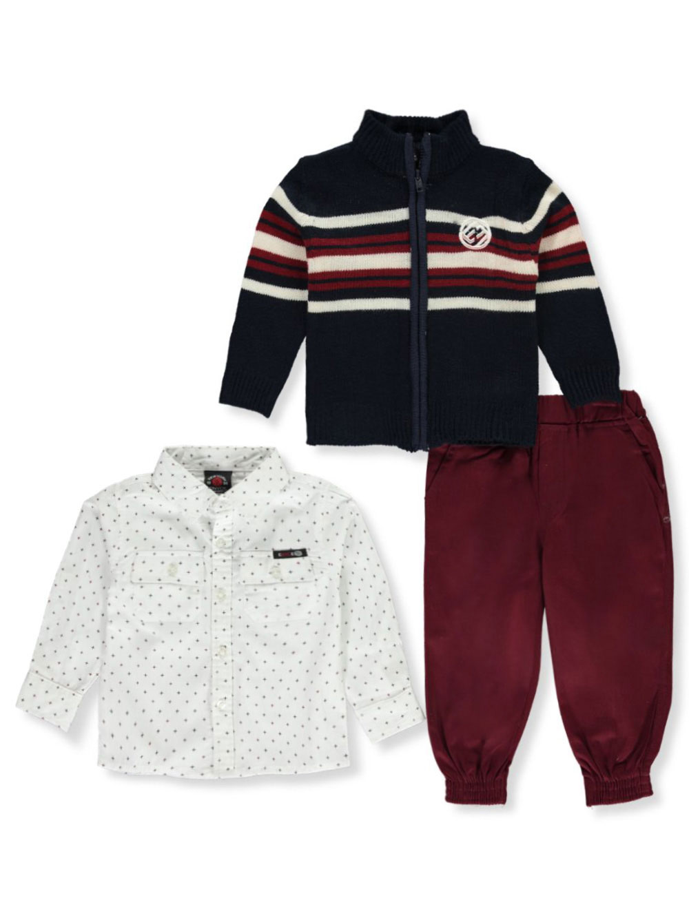 Boys Burgundy Sets
