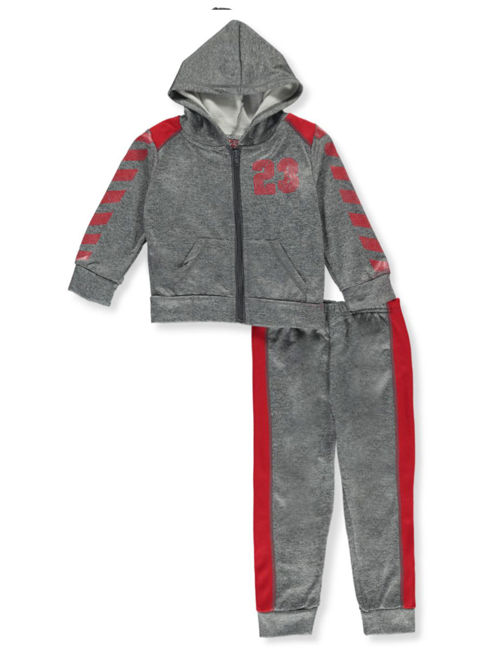 Boys Charcoal and Red Sets