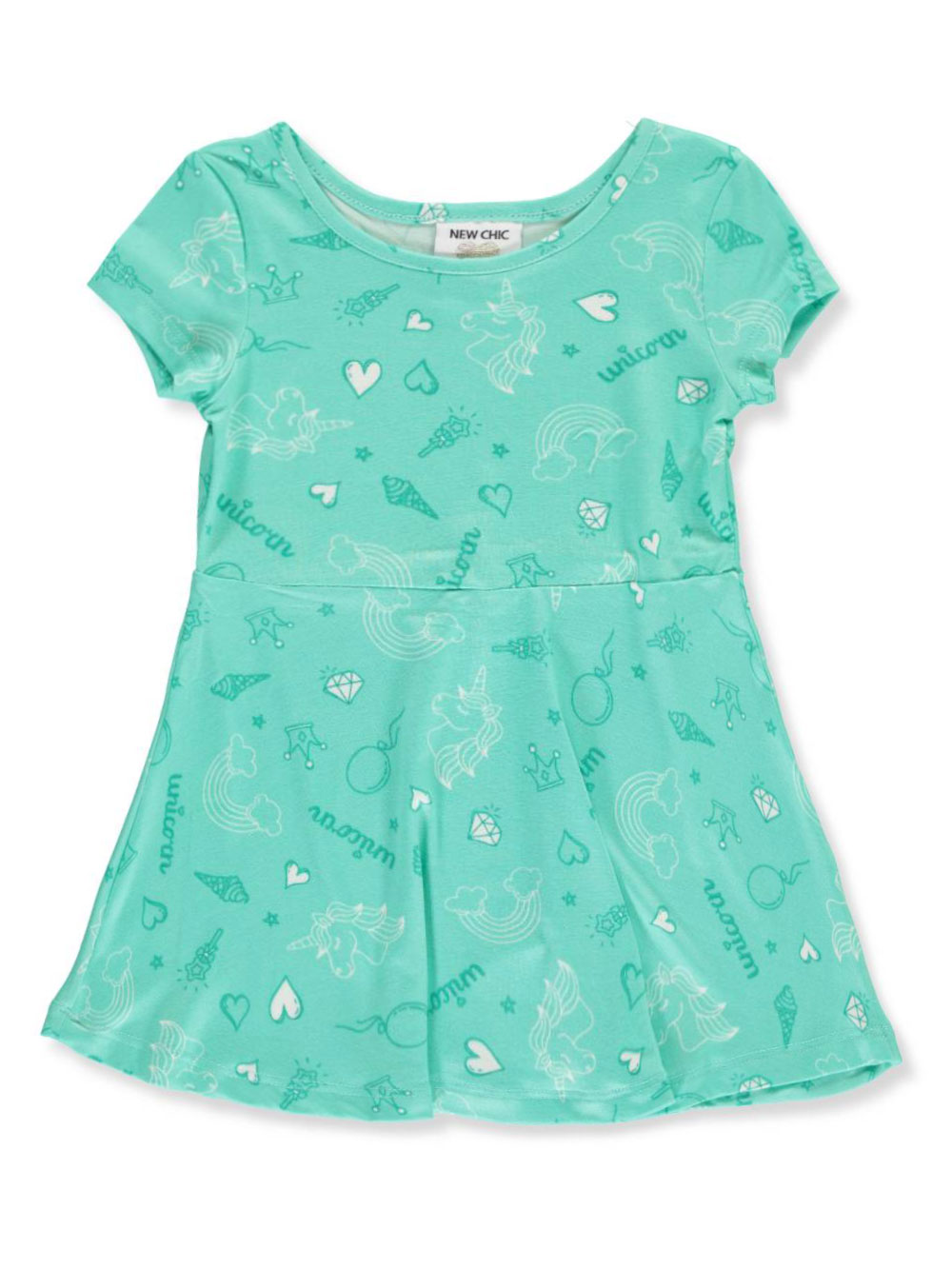 0aced2b53 Baby Girls' Skater Dress by New Chic in Aqua from Cookie's Kids