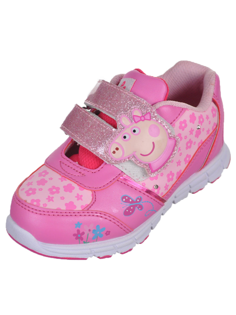 Image of Peppa Pig Girls Piggy Straps LightUp Sneakers Toddler Sizes 5  10  pink 10 toddler