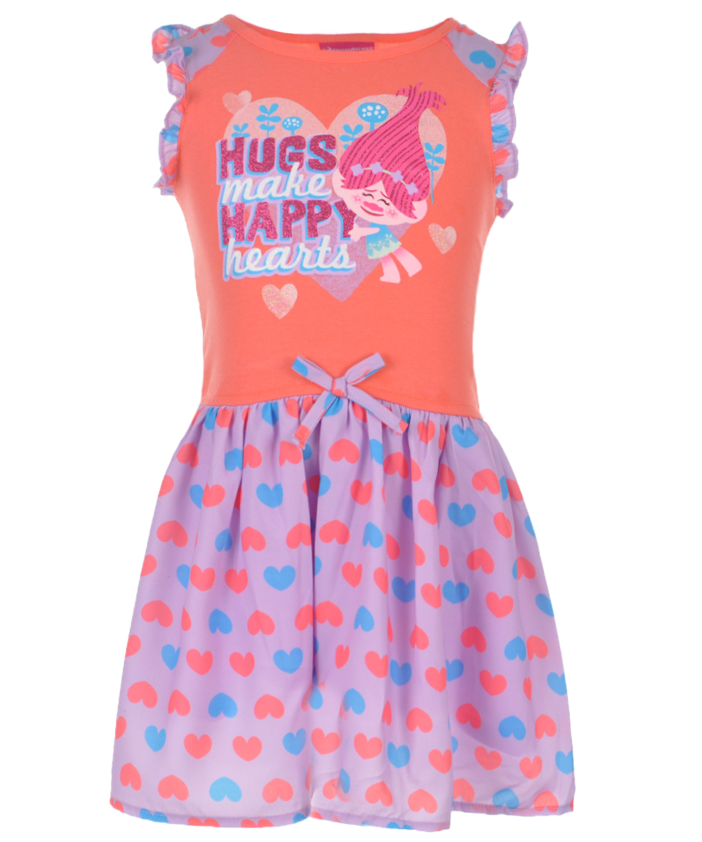 "Trolls Little Girls' Toddler ""Hugs Make Happy Hearts"" Dress"