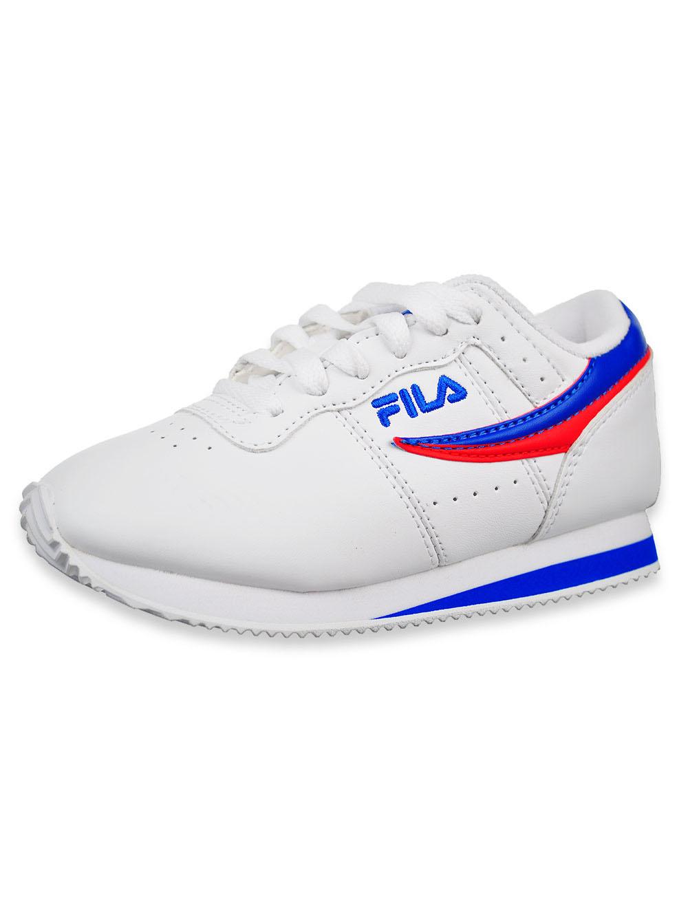 Girls' Machu Low Top Sneakers by Fila in Whiteredmulti
