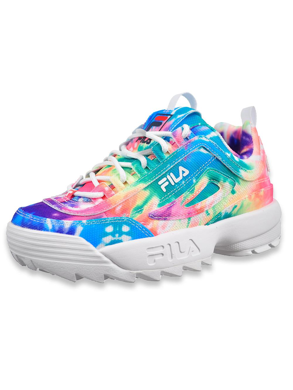 Fila Girls' Disruptor II Tie Dye Sneakers (Sizes 4 – 6)