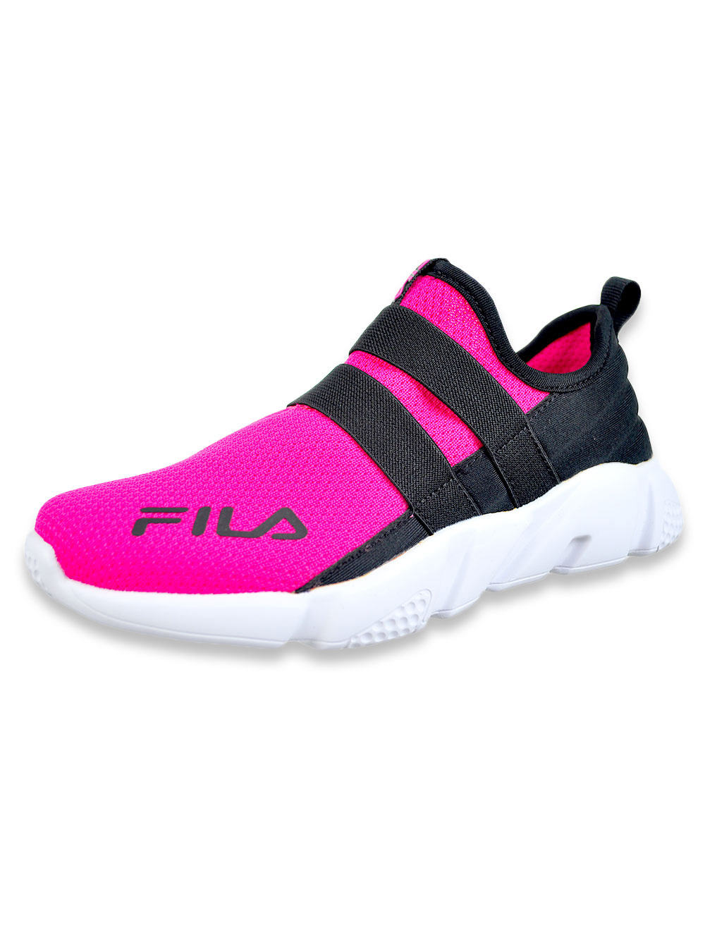 Girls Pink and Multicolor Sneakers