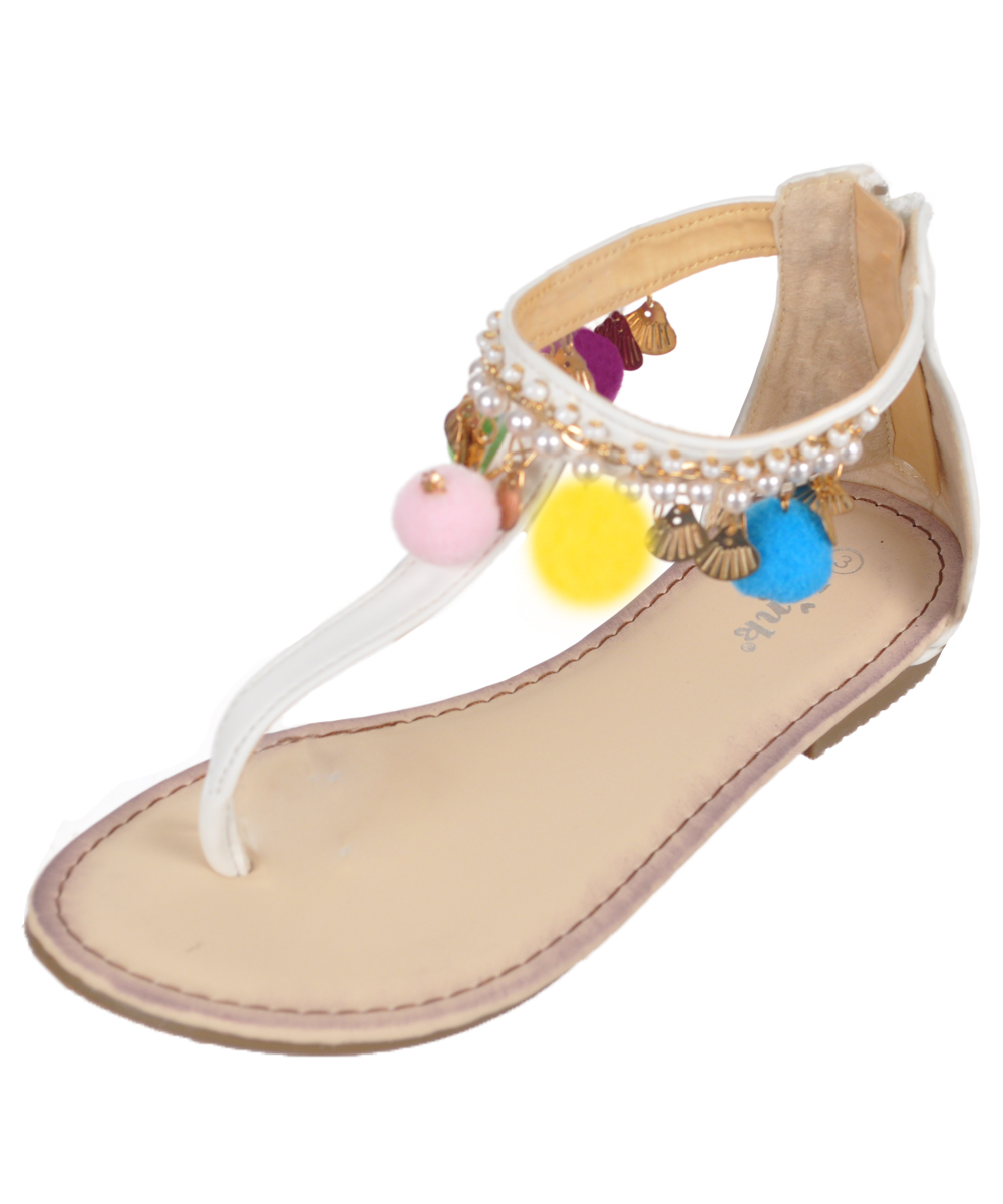Image of Link Girls Shell Chic Sandals Youth Sizes 13  3