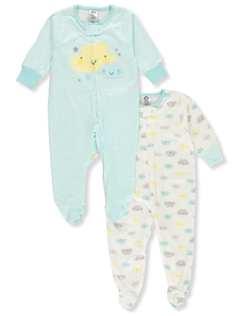 Baby Boys' Clouds 2-Pack Footed Coveralls