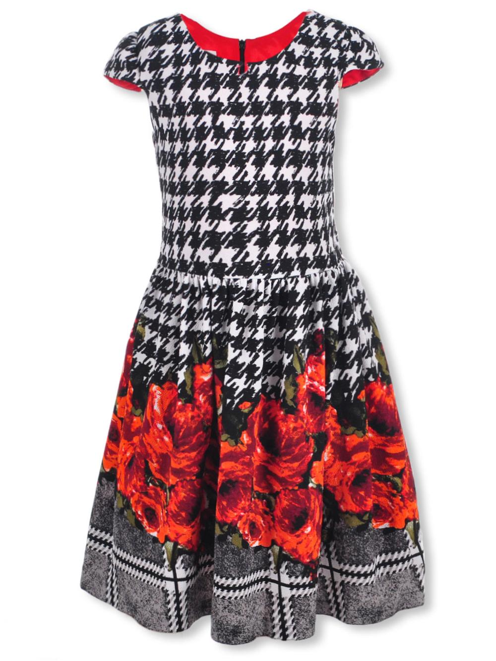 Plus Size Girls\' Dress by Bonnie Jean in Black/white
