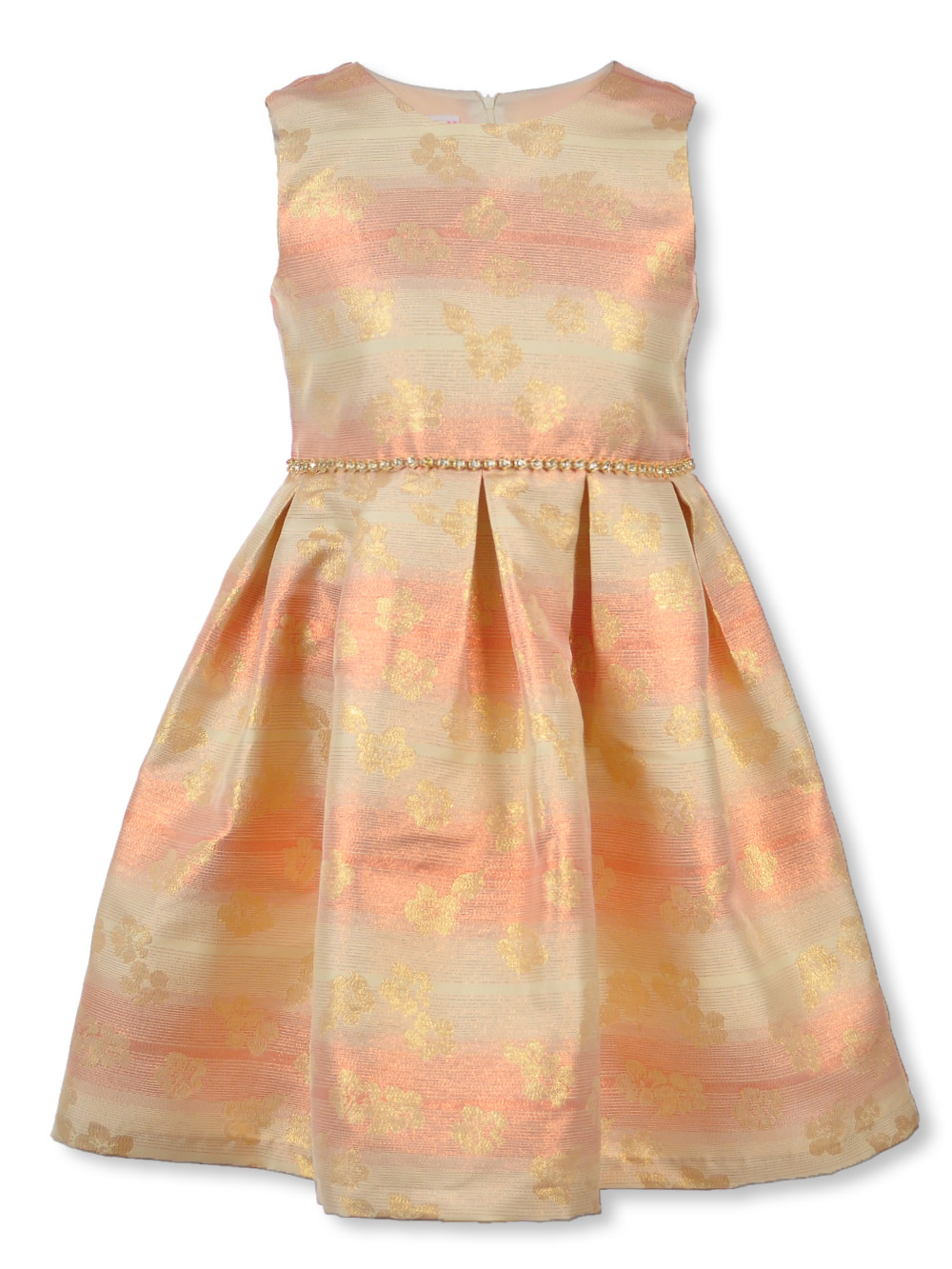 Bonnie Jean Plus Size Girls' Glittery Streaked Flora Dress